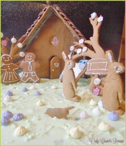Springtime Gingerbread Scene