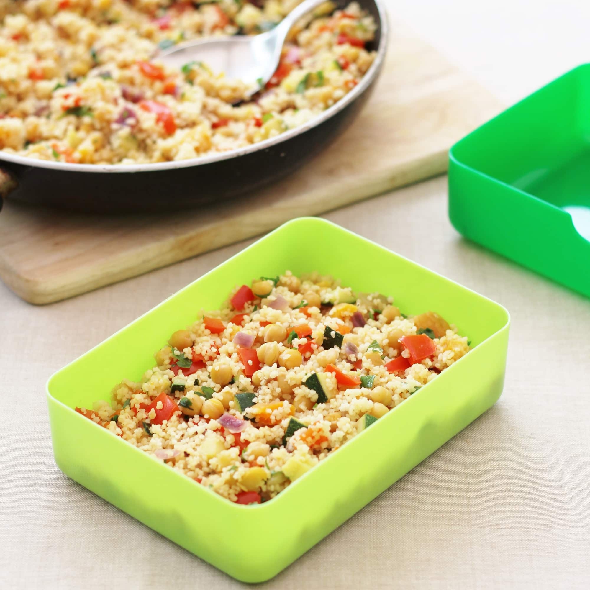 30 Stress Free Easy Camping Food Ideas Your Family Will: Chickpea And Apricot Couscous Salad For The #FloraLunchbox