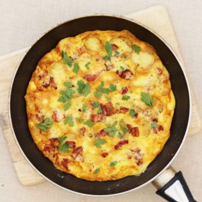 Quiche Lorraine Style Frittata with British Gems