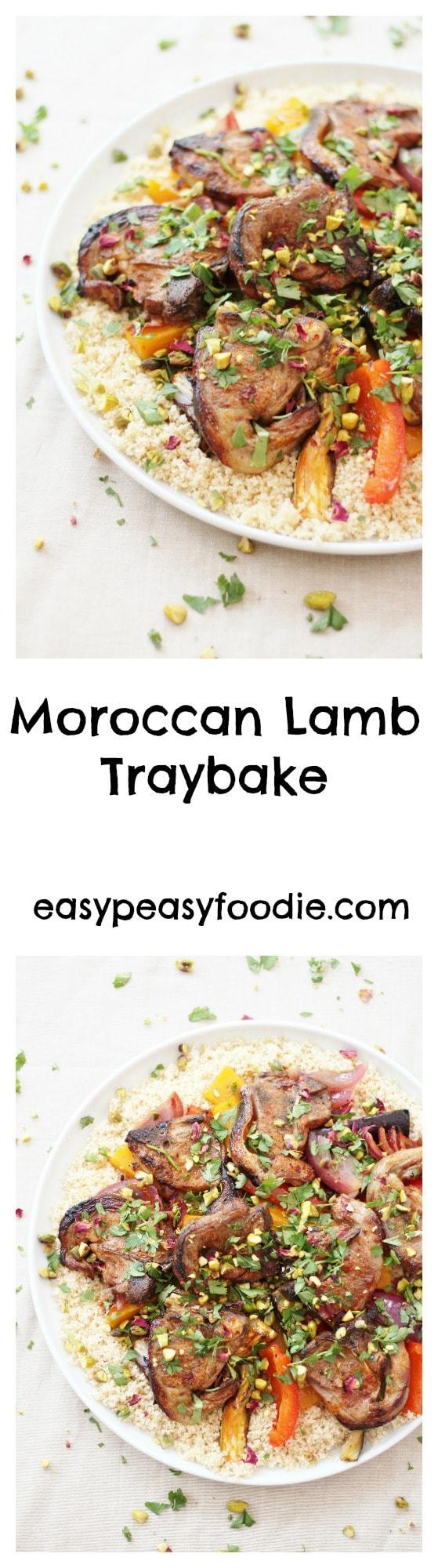 Moroccan Lamb Traybake - pinnable image for Pinterest
