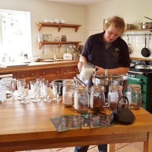 Ross Tapley of Dorset Herbals making the perfect Chai Latte