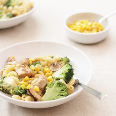 Creamy Chicken, Broccoli and Sweetcorn Pasta
