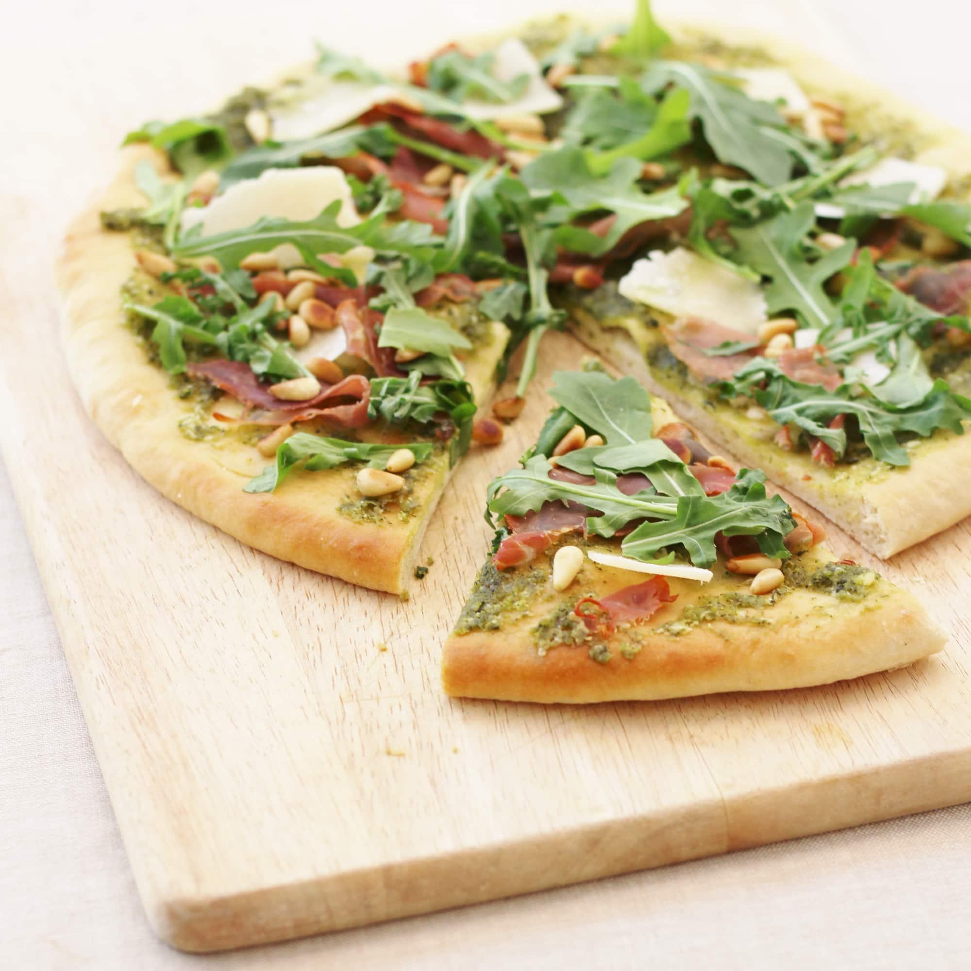 Pesto Pizza with Grana Padano and Prosciutto di San Daniele (GIVEAWAY NOW CLOSED)