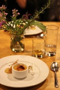 Honeycomb Creme Brulee with Apple Crisp