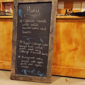River Cottage Christmas Menu