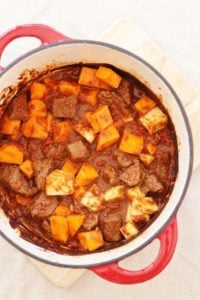 Venison Butternut Squash and Parsnip Tagine