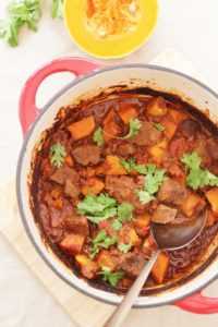 Venison, Butternut Squash and Parsnip Tagine