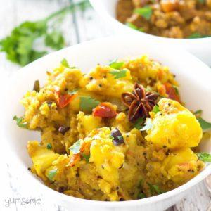 Easy mild potato curry (aloo masala)