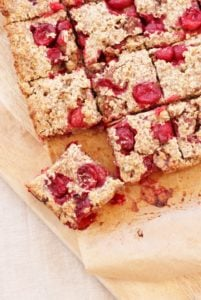 Cranberry Cinnamon and Pecan Porridge Squares