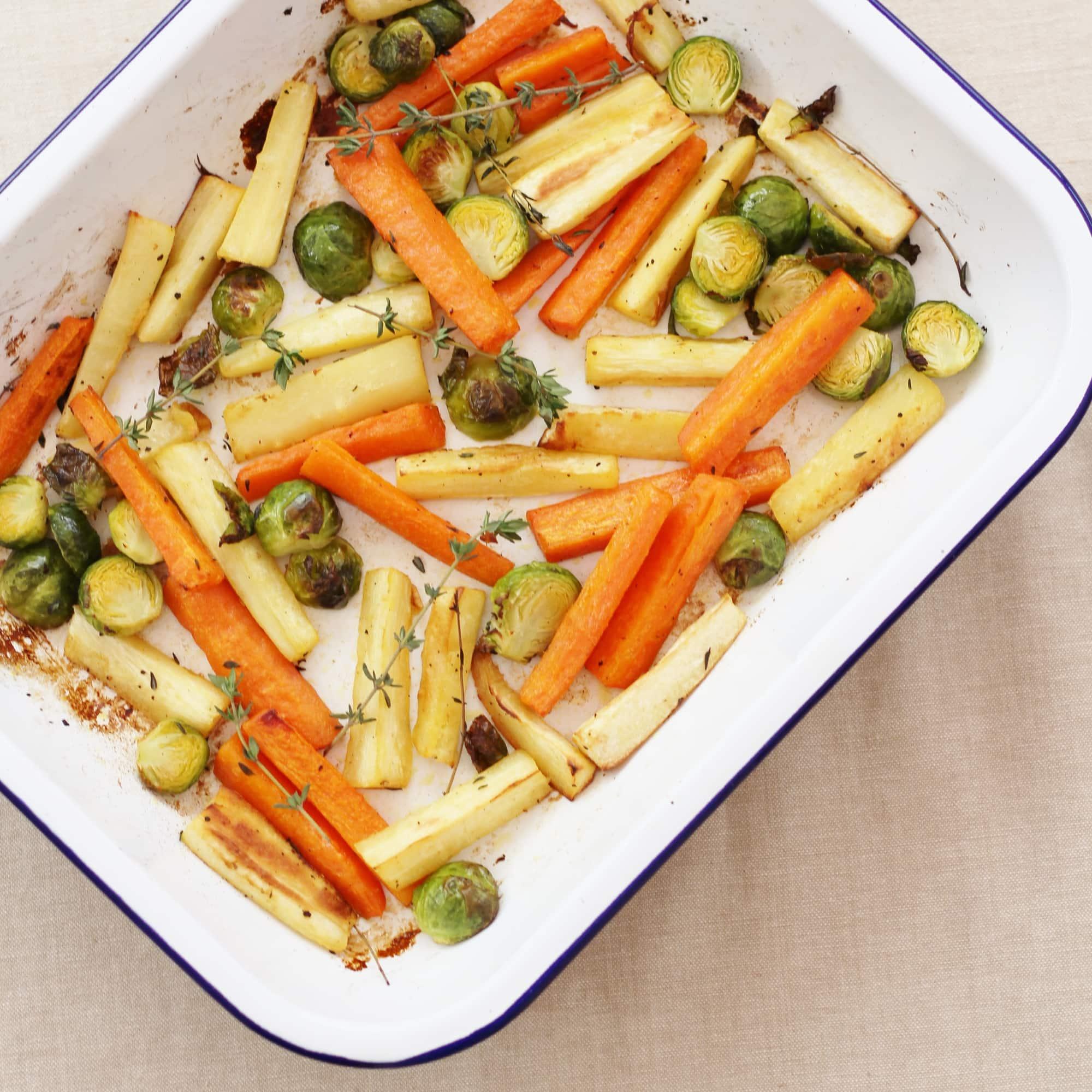 Easy Christmas Vegetable Traybake Easy Peasy Foodie