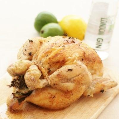 Gin Brined Chicken (or Turkey)