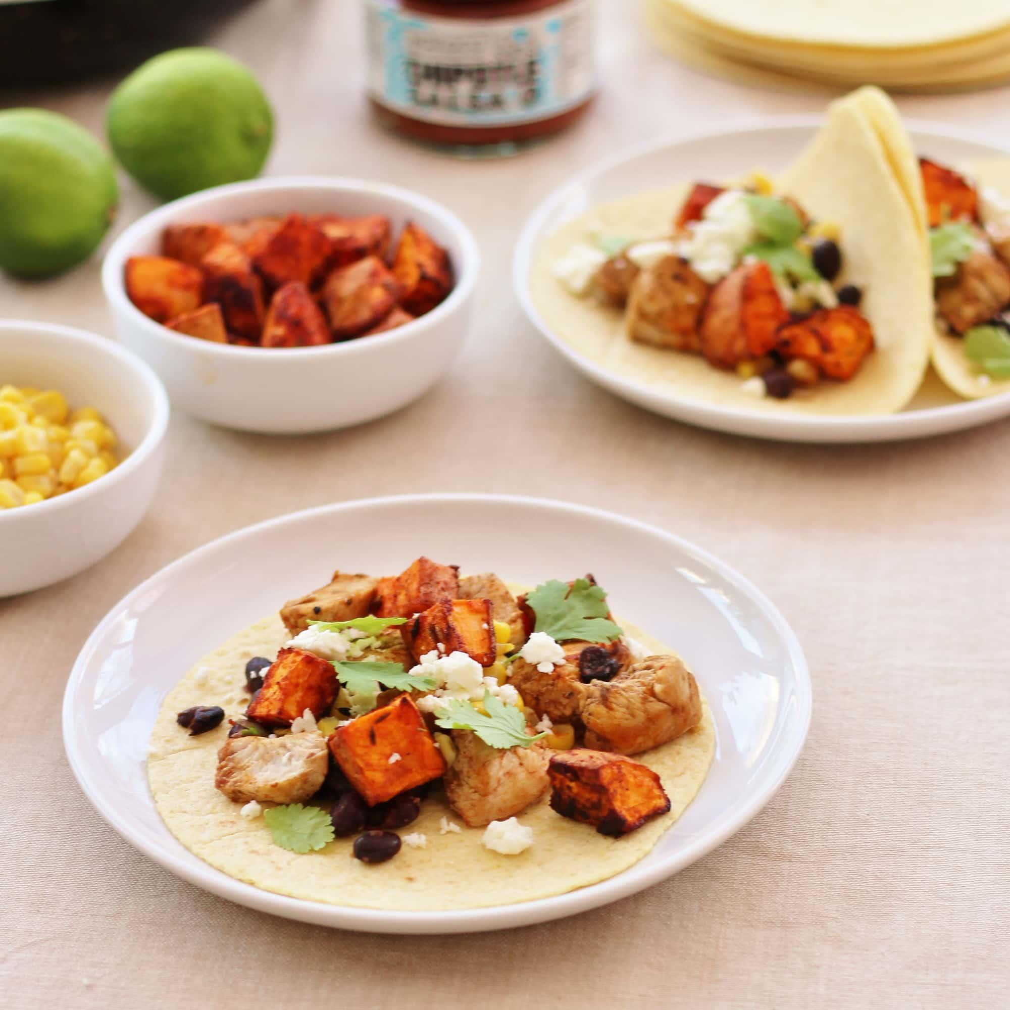 Turkey, Sweet Potato and Black Bean Tacos