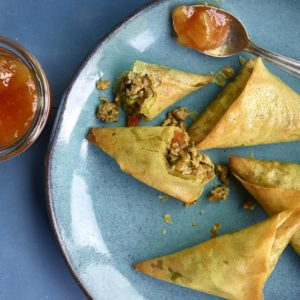 Lamb and Vegetable Samosas