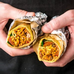 Speedy Spicy Chilli Bean Burritos