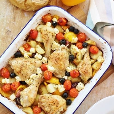 Greek Chicken Traybake