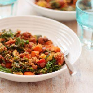 Quinoa Kale and Borlotti Bean Stew