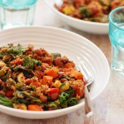 Quinoa, Kale and Borlotti Bean Stew (Vegan)