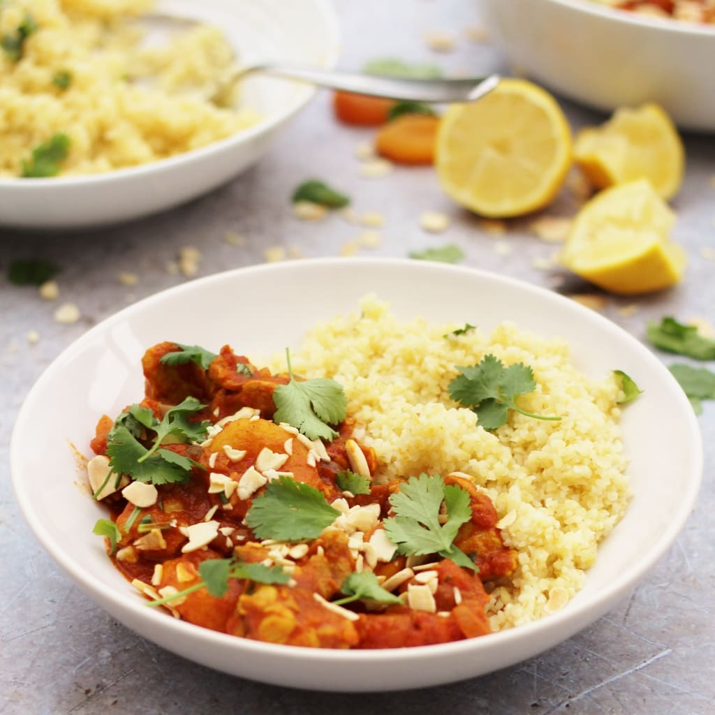 Chicken, Apricot and Almond Tagine