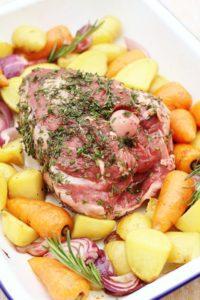 Herb Crusted Lamb Mini Roast Traybake