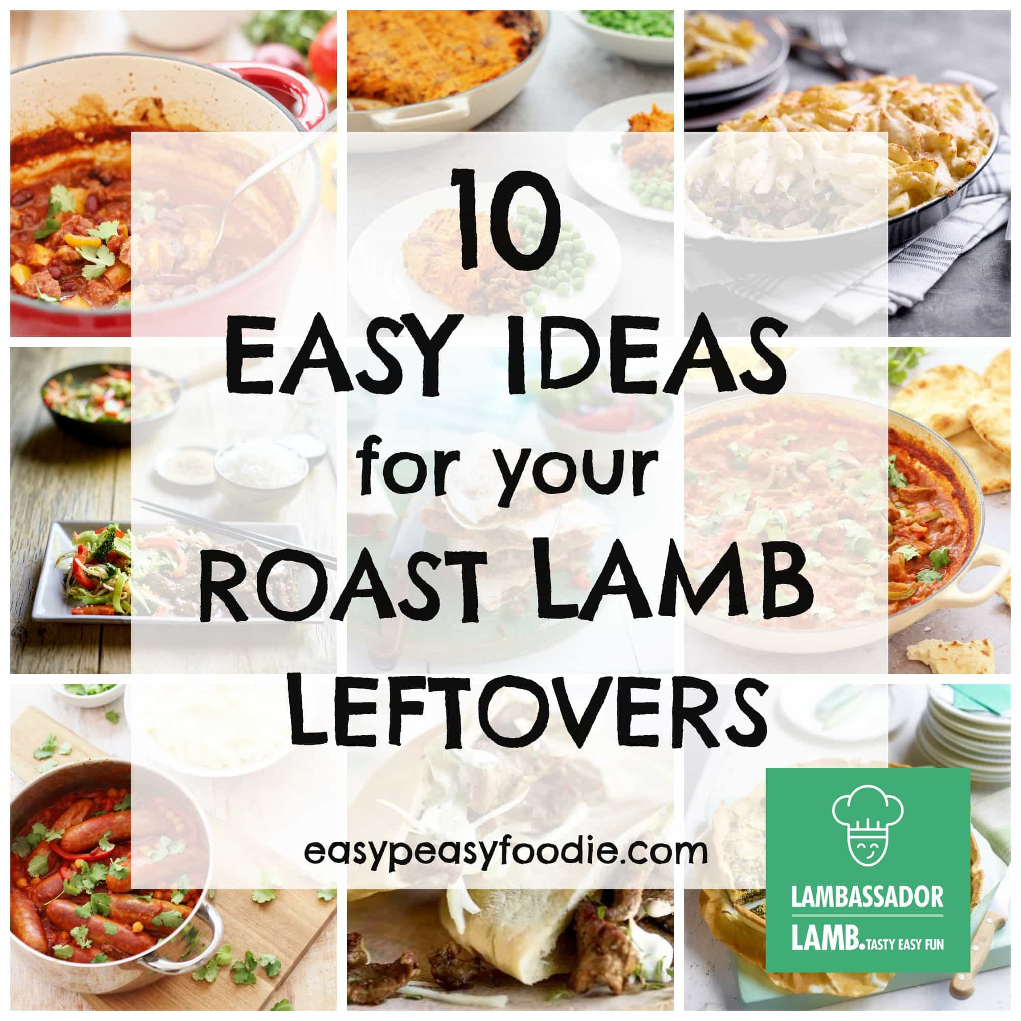 10 Easy Ideas for your Roast Lamb Leftovers - Easy Peasy Foodie