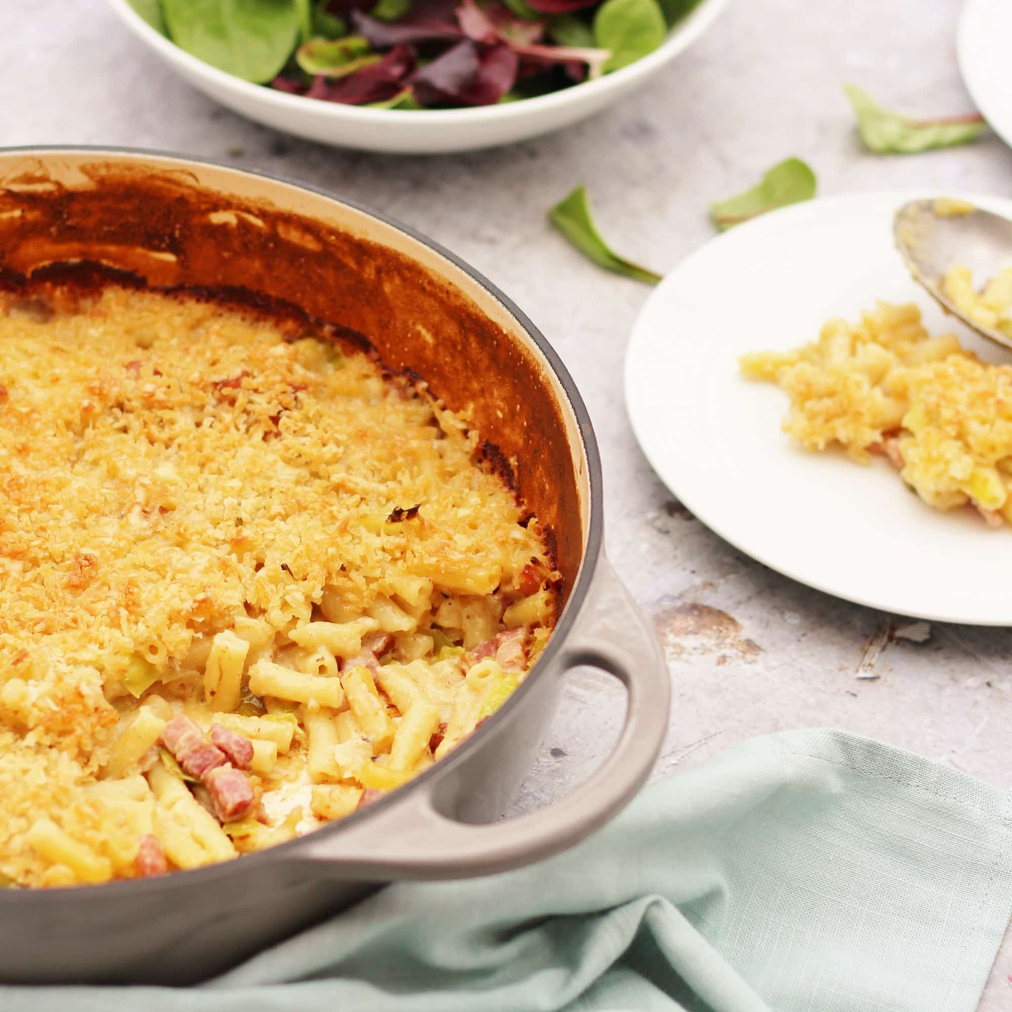 Leek and Bacon Macaroni Cheese - Easy Peasy Foodie