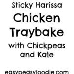 This Sticky Harissa Chicken Traybake, is simple, quick and delicious - perfect for busy weeknights. It's also healthy, gluten free and dairy free! #chicken #stickychicken #harissa #harissachicken #chickentraybake #traybake #onepan #easydinners #midweekmeals #familydinners #easypeasyfoodie
