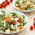 Squash Quinoa Avocado and Feta Salad