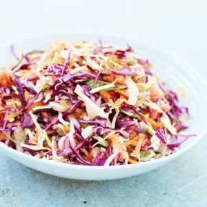 Easy No Mayo Coleslaw #DairyFree #EggFree #Vegan