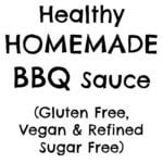 A delicious, healthy alternative to the additive laden commercial versions, this Healthy Homemade BBQ Sauce is super easy to whip up and way more tasty!
