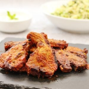 Moroccan Lamb Chops with Yogurt and Cucumber Sauce
