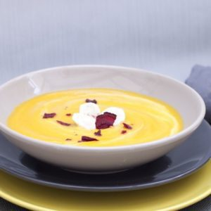 Creamy Vegan Carrot, Parsnip and Ginger Soup
