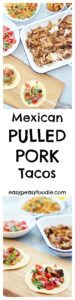 With unbelievable flavours and a melt in your mouth texture, these Mexican Pulled Pork Tacos are set to be your new family favourite! #Mexican #PulledPork #Pork #Carnitas #Tacos