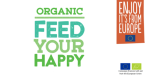 Organic. Feed Your Happy Logo