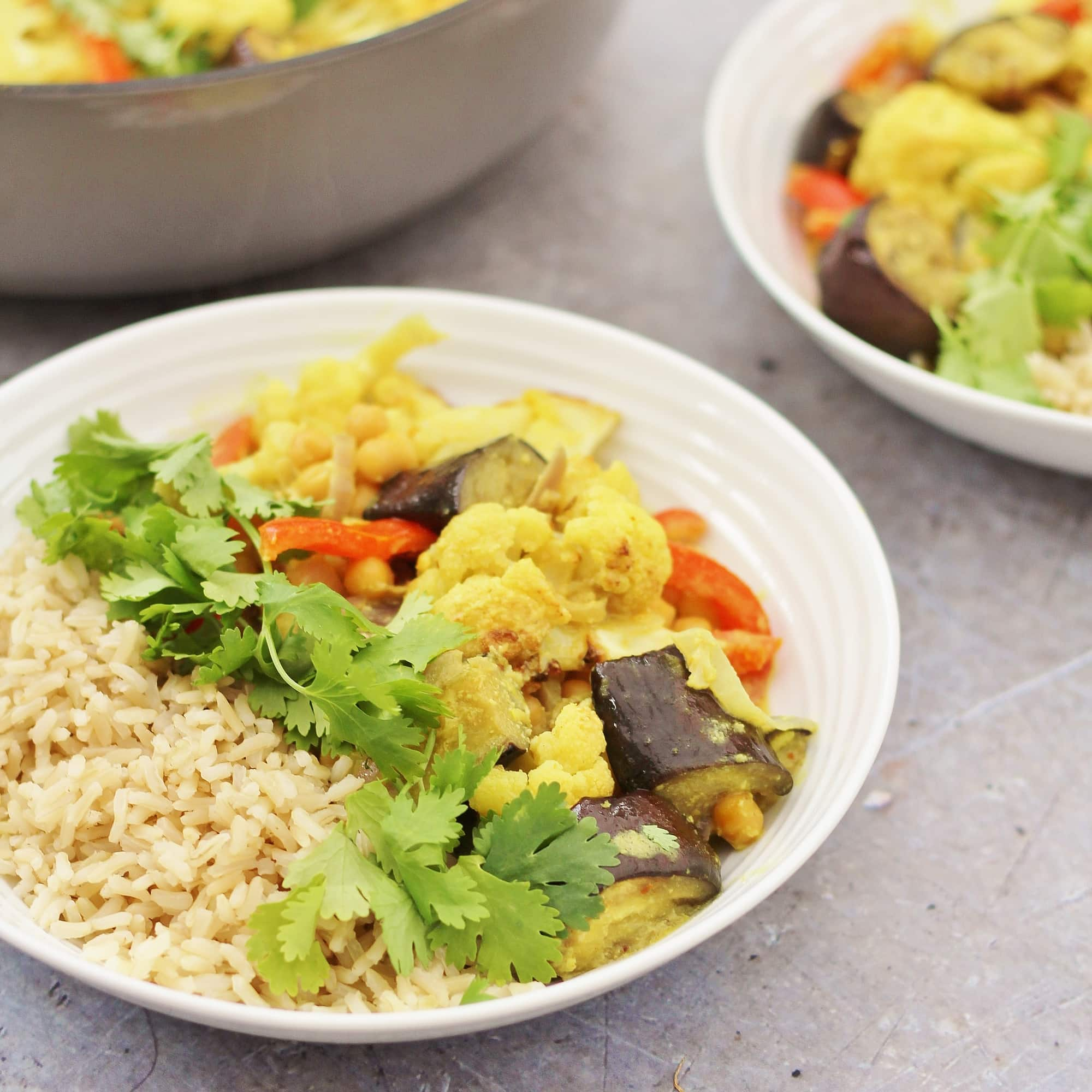 Simple, healthy and utterly delicious this Easy Vegetable Korma can be on your table in just 30 minutes, making it a perfect midweek meal!