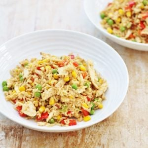 Leftover Chicken and Egg Fried Rice