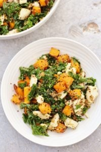 Leftover Chicken Kale and Pumpkin Salad