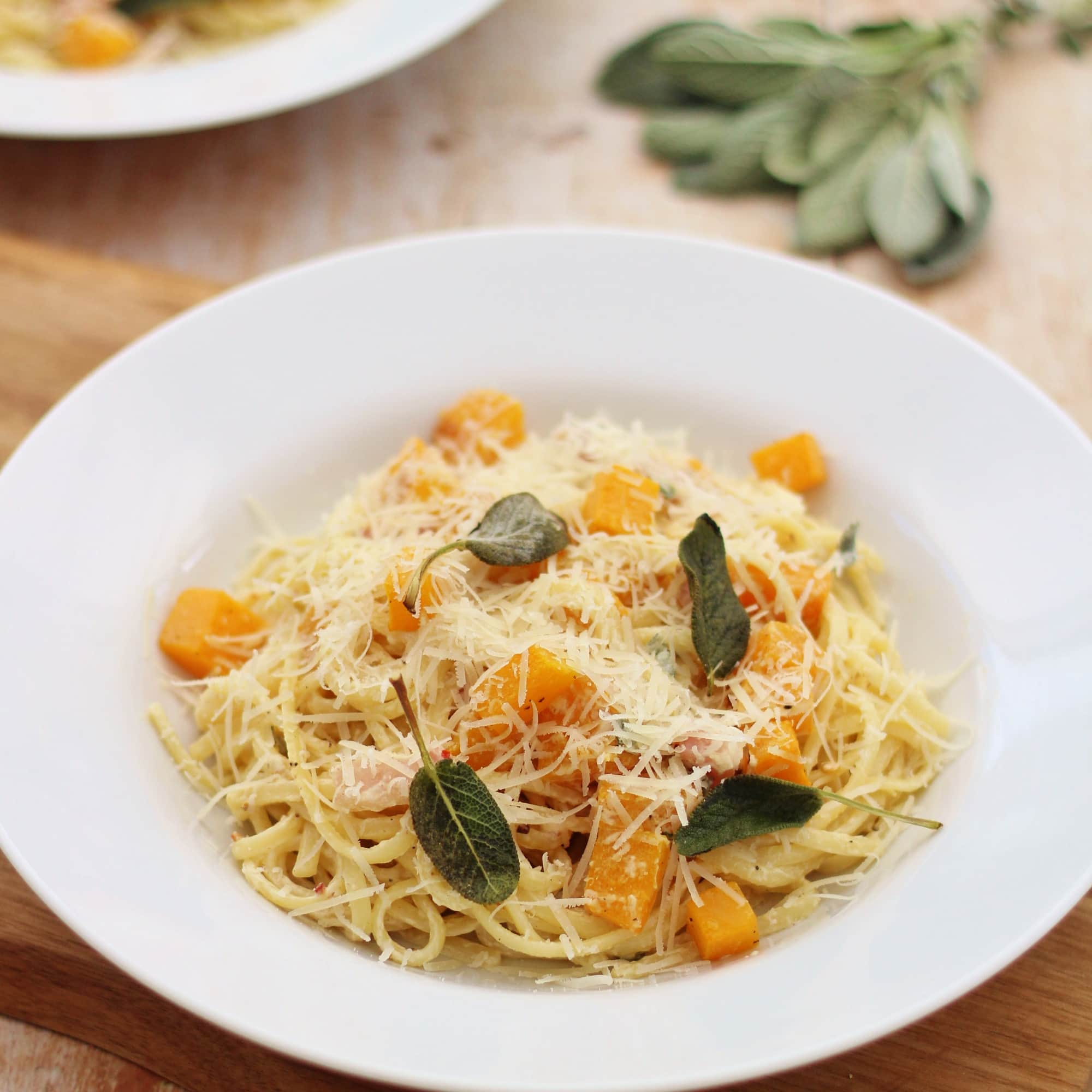 Bacon Sage and Pumpkin Pasta