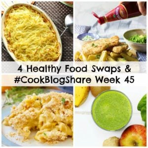 Sometimes it's easier to make a few small changes than try to change your whole diet in one go. These 4 healthy food swaps are all great ways to make your diet just that little bit healthier without feeling like you are denying yourself too much. Plus find out more about the exciting project I've been working on lately and, of course, the linky for #CookBlogShare Week 45.