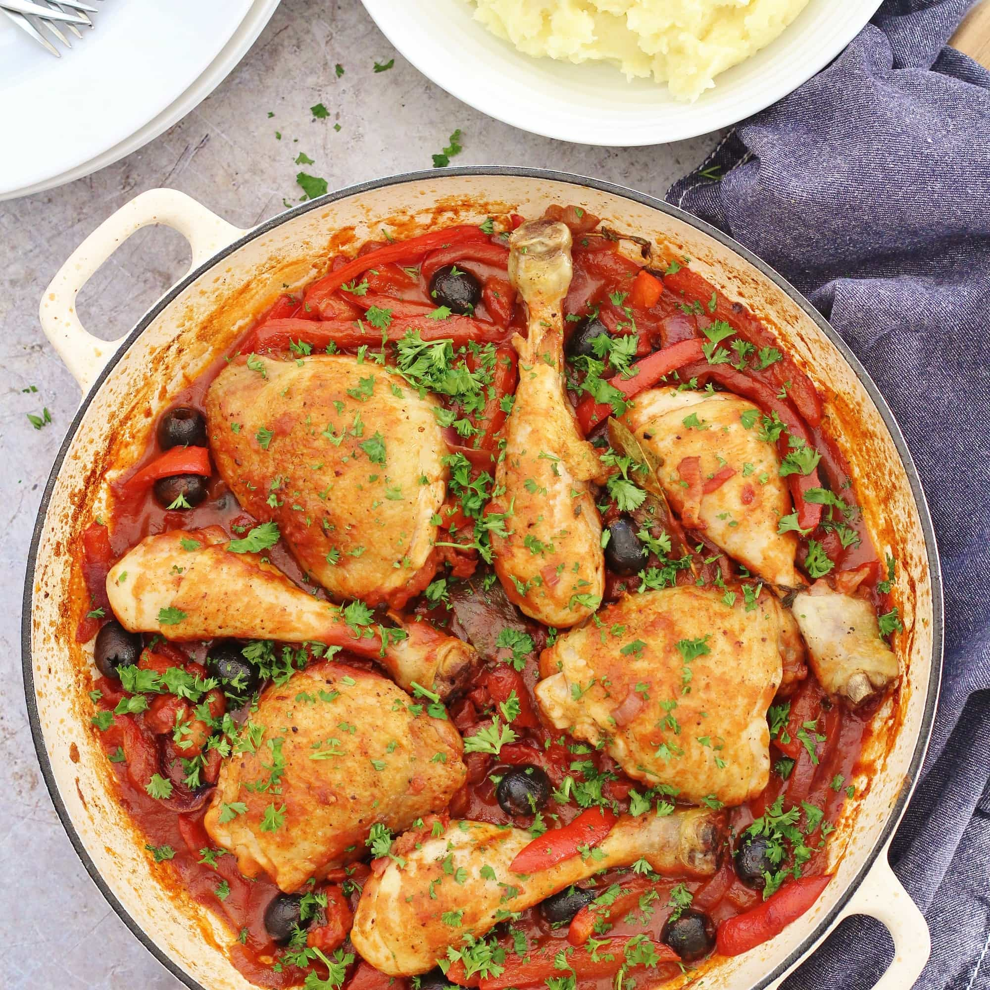 Easy Chicken Cacciatore