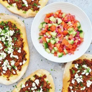 Turkish Lamb Pizzas Lahmacun