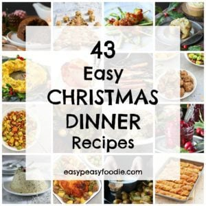 Christmas dinner doesn't have to be stressful! Make your life easier this year by cooking up some of these easy Christmas dinner recipes.. Full of tips, tricks and cheats, these easy Christmas menu ideas, from me and my fellow food bloggers, are sure to make Christmas morning a much less stressful and more enjoyable affair….but no less delicious!!