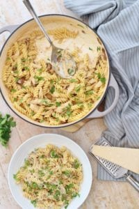 Creamy Leftover Turkey Pasta