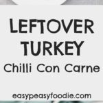Leftover Turkey Chilli Con Carne - pinnable image for Pinterest