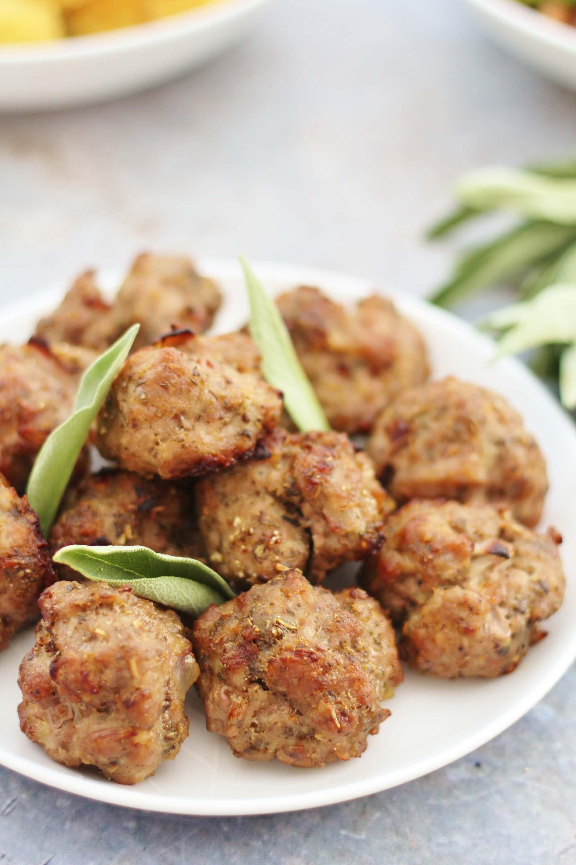 Pork, Sage and Onion Stuffing Balls - Gluten Free Dairy Free Egg Free Nut Free