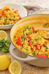 Easy One Pot Vegetable Paella Vegan