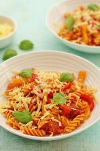 Tomato, Pepper and Chorizo Pasta