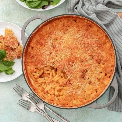 Spanish Style Macaroni Cheese with Chorizo and Manchego