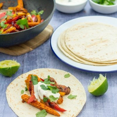 Easy Vegetable Fajitas