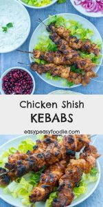 Want to cook something a little bit different on the BBQ this year? Why not try my Chicken Shish Kebabs – cubes of chicken (thigh or breast) coated in a mixture of yogurt, garlic and spices and barbecued to perfection (or grilled, or griddled if you prefer!). #chicken #kebabs #kabobs #chickenkebab #shishkebab #chickenshishkebab #BBQ #barbecue #grill #summerrecipe #BBQrecipe #easydinners #midweekmeals #familydinners #easypeasyfoodie