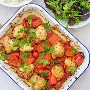 Sticky Chicken Traybake inspired by Mary Berry